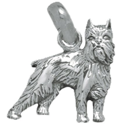 Brussels Griffon .925 Sterling Silver Toy Dog Breed Charm