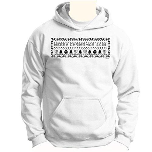 Christmas 2014 Ugly Christmas Sweater Banner Youth Hoodie Sweatshirt Medium White
