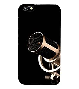 Music Mic 3D Hard Polycarbonate Designer Back Case Cover for Huawei Honor 4X :: Huawei Glory Play 4X