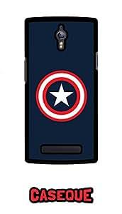 Caseque Captain America - Minimalitic Shield Back Shell Case Cover for Oppo Find 7