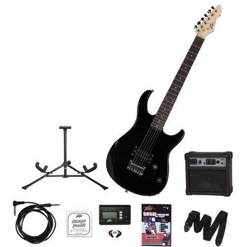 Peavey Electronics 00569260 Rockmaster Guitar Stage Pack, Gloss Black