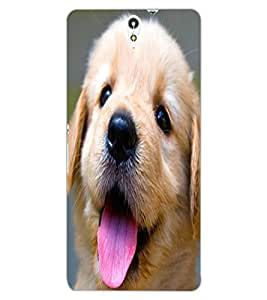 ColourCraft Cute Pup Design Back Case Cover for SONY XPERIA C5 ULTRA