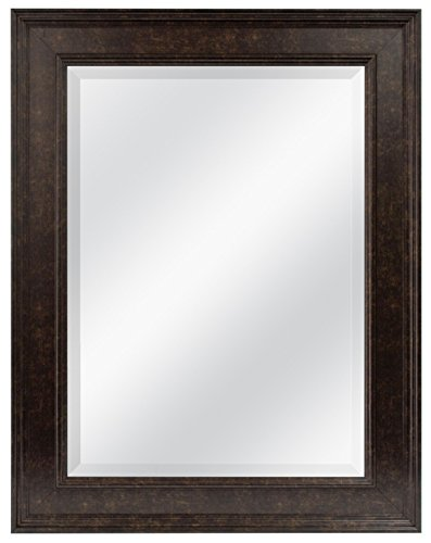 MCS 20676 15.5 by 21.5-Inch Beveled Mirror with 21.5 by 27.5-Inch Frame, Bronze