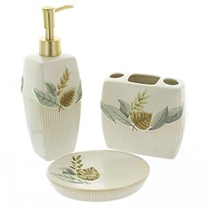 cascading leaves bathroom accessory soap dish