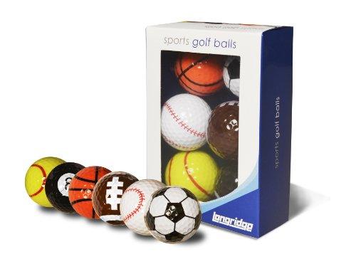 Longridge witzige Golfbälle Sport, 6er Pack