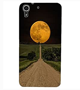 ColourCraft Moon View Design Back Case Cover for HTC DESIRE 626G+