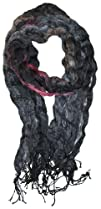LibbySue-Impressionist Watercolor Crinkle Scarf