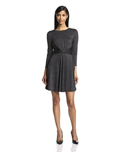 A.B.S. by Allen Schwartz Women's Dotted Fit-and-Flare Dress