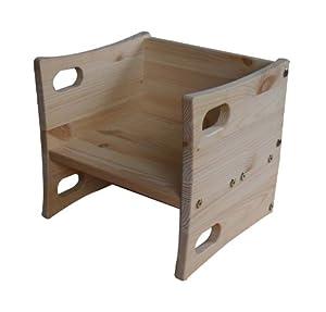 kinderstuhl aus holz wendestuhl wendehocker kiefermassivholz fsc zertifiziert aus nachhaltiger. Black Bedroom Furniture Sets. Home Design Ideas