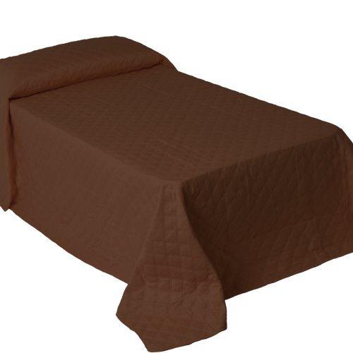 MD - Colcha ''bouti'' ''lcc'', medidas 260x180cm, color chocolate