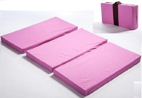 MamaDoo Kids Play Yard Mattress Topper, Foldable, PINK -Made in USA