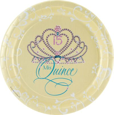 Mis Quince Dinner Plates (18 count)