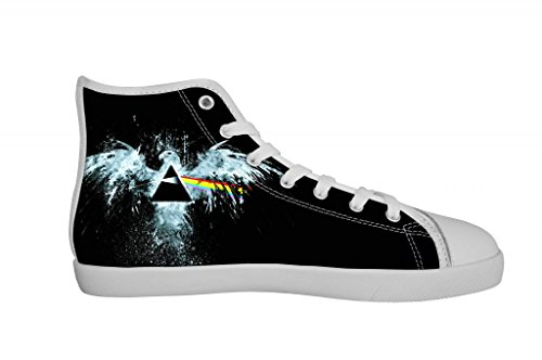 Rock Band Pink Floyd Men's Canvas Shoes Men White High Top Canvas Shoes-7M US