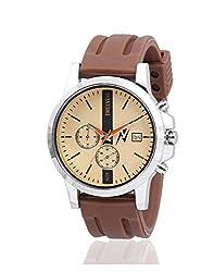 Yepme Mens Chronograph Watch - Golden/Brown_YPMWATCH2020