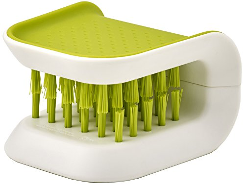 Joseph Joseph 85105 Blade Brush Knife and Cutlery Cleaner Kitchen Washing Non-Slip Brush Bristle Scrub, Green