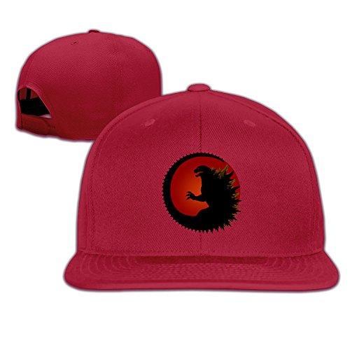 k-fly2-adjustable-godzilla-logo-baseball-caps-hat-unisex-red