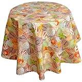 runde tischdecke aus wachstuch abwaschbar gelati eiscremekugeln 140cm rund 210 00. Black Bedroom Furniture Sets. Home Design Ideas