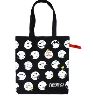 Sanrio Snoopy Tote Bag Dot Black Kawaii Japan Fashion 511c New From Japan F/s