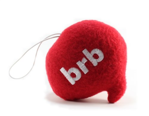 "Throwboy Throwbabies ""BRB"" Chat Mini 3.5"" Throw Pillow, Red - 1"