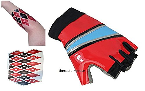 Harley Quinn Costume Biker Gloves