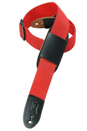 Levy'S Leathers M8Pj-Red 1.5 Polypropylene Youth'S Guitar Strap, Red
