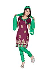 Shree Vardhman Synthetics Zamli Semi Cotton Top Straight Unstiched Salwar Suit Dress Material