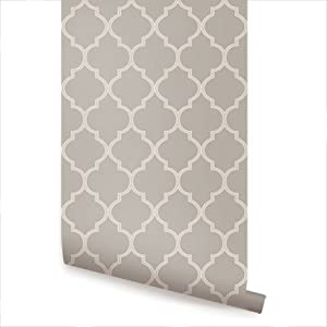 moroccan grey peel stick fabric wallpaper repositionable