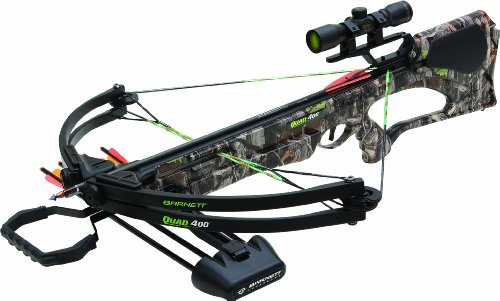 Barnett Quad 400 Crossbow Package (Quiver, 3 - 22-Inch Arrows and Premium Red Dot Sight)