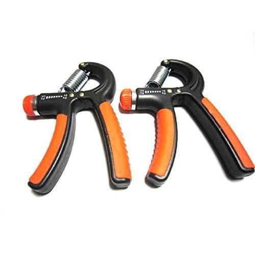 体力 強化 握力 ハンドグリップ 負荷 調整式 5kg~50kg (ブラックオレンジ2個)