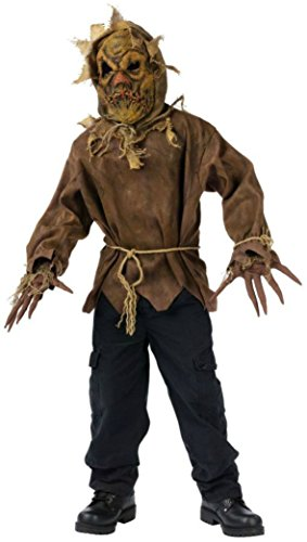 Boys Scarecrow Kids Child Fancy Dress Party Halloween Costume