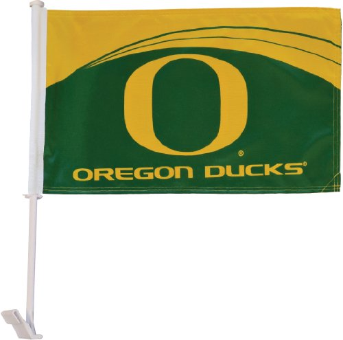 In the Breeze Double Sided University of Oregon Car Flag