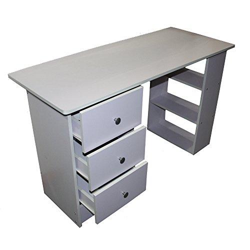 Redstone-Wei-Schreibtisch-3-Schubladen-3-Regale-Arbeitstisch-Computertisch-Brotisch