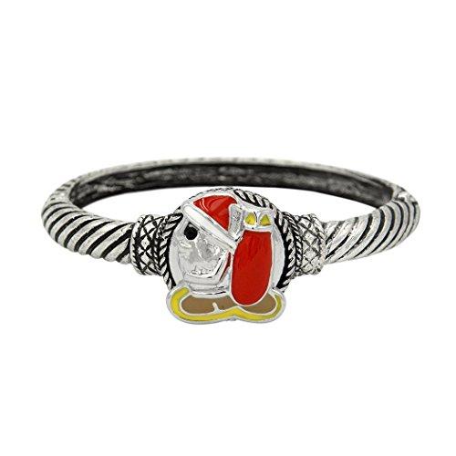 Sun Lorence Nice Design Brand New Wrist Bangle Interchangeable Snap Button Bracelet (Santa)