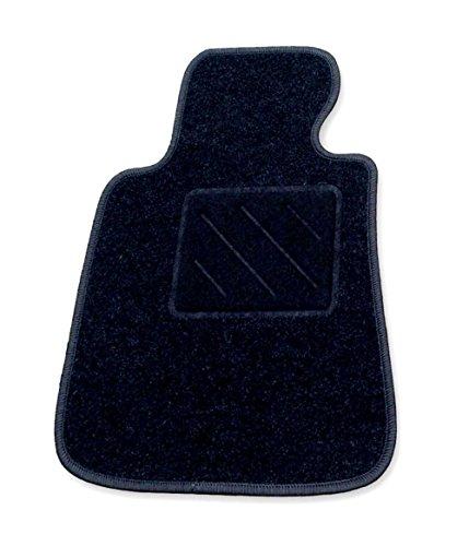 Passform Fussmatte Fahrermatte ZERO schwarz für Mercedes E-Klasse W211 / S211 Limousine / T-Modell Kombi Bj. 03/02 - 02/09 mit Mattenhalter vorne