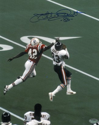 Willie Gault Signed Chicago Bears 8X10 Photo Vs Patriots (Super Bowl Xx)