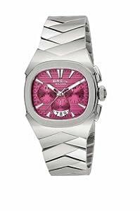 Breil BW0298 - Reloj cronógrafo de mujer de cuarzo con correa de acero inoxidable plateada (cronómetro)