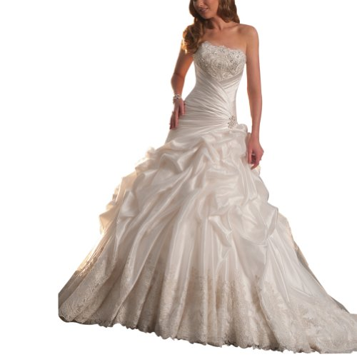 GEORGE BRIDE Strapless Taffeta Pick-up Ball Wedding Dress