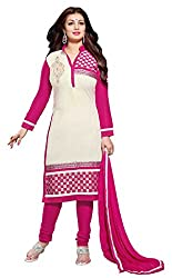 Parinaaz fashion Pink Cotton Unstitched Dress Material
