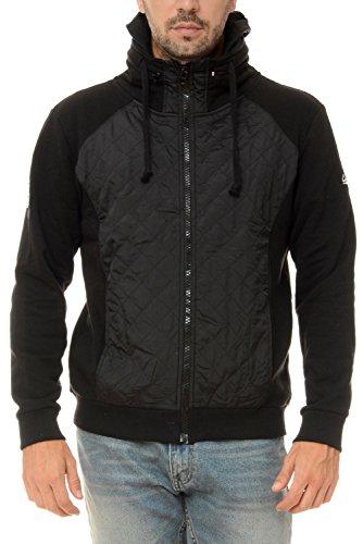 M.Conte Sweat Sweatshirt Jacket Uomo Sport Giacca Felpa Ricardo nero XXXL
