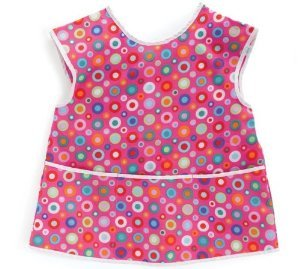 Art Smock with Pink Circles - Girl