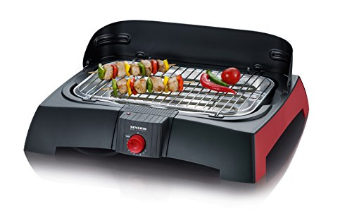 Severin Barbecue-Grill PG 2785 schwarz/rot schwarz/rot