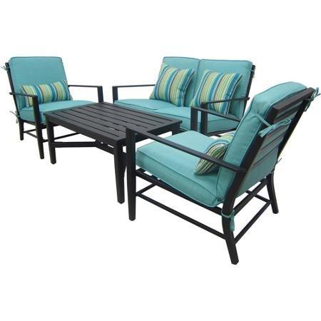 4 Piece Patio Conversation Set Outdoor Furniture