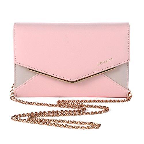 Damara Briefumschlag Damen Clutch Handtasche,Pink