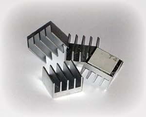 XBRdepot 1 Pack of 4 Premium Self-Stick Aluminum Heatsinks for XBOX 360 RAM ANA and Southbridge Cooling (4 individual PCS)