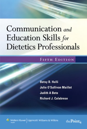 Communication and Education Skills for Dietetics...