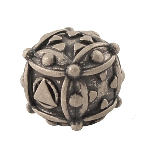 1 (One) Single IronDie: Solid Metal Italian Dice - White Ballistic (Die-Cast Designer Six-Sided Die / d6) - 1