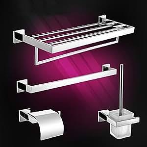 Contemporanea accessori da bagno in acciaio inox set casa e cucina - Accessori bagno acciaio inox ...
