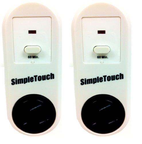 Simple Touch The Original Auto Shut-Off Safety Outlet, Single Setting, 2 Count