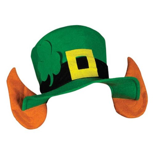 Felt Leprechaun Hat w/Ears Party Accessory (1 count) (1/Pkg)