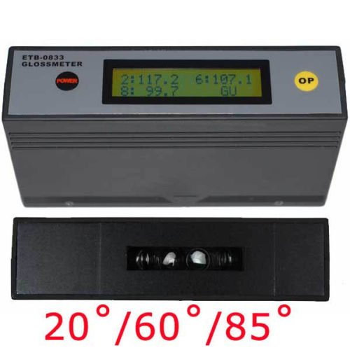 Digital LCD Glossmeter Gloss Meter Paint Woodware Surface 20? 60? 85